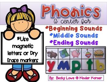 Beginning, Middle, & Ending Sound Practice