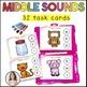 Beginning, Middle, Ending Sounds - Task cards!