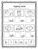 Beginning, Middle, Ending Sounds - Cut, Paste, or Write BUNDLE!