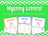 Mystery Letters [Beginning Middle Ending Sounds]