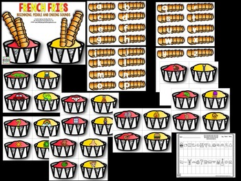 Beginning, Middle, Ending Sounds!   French Fry Sounds!
