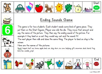 Beginning, Middle, Ending Sounds Games and Worksheets