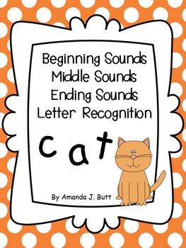 Beginning, Middle, Ending Sounds; Letter Recognition; Kindergarten ...