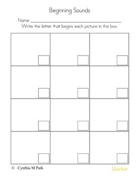 Beginning Middle And Ending Sounds Worksheets For Kindergarten Pdf
