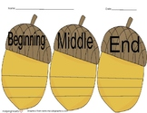 Beginning, Middle and End Acorn Graphic Organizer