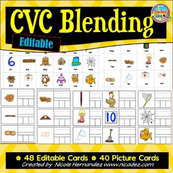 CVC Blending Cards {Editable}