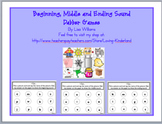 Beginning, Middle and End Sounds Dabber Games