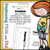 Retell: Beginning, Middle and End Foldable Organizer