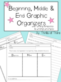 Beginning, Middle, and End Graphic Organizers with Writing