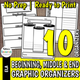 Beginning, Middle, and End Graphic Organizers