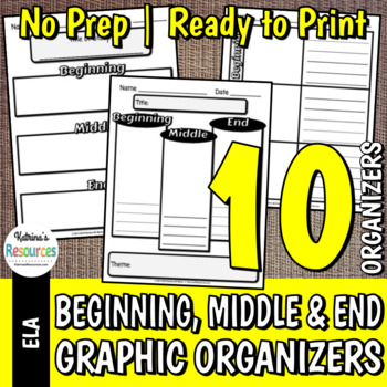 Beginning, Middle, and End Organizers