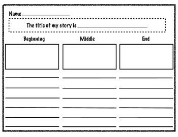 Beginning, Middle, and End Planning Sheet for Writing