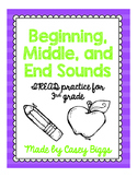Beginning, Middle, and End Sounds (IREAD 3)