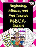 Beginning sounds, middle sounds, and end sounds MEGA Bundl