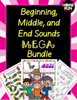 Beginning sounds, middle sounds, and end sounds MEGA Bundl