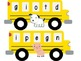 Beginning, Middle and End Sounds School Buses
