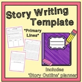 Beginning, Middle and End Story Writing Template With Primary Lines
