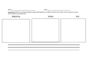 Beginning, Middle, and End Worksheet