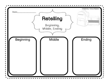 Beginning, Middle, and Ending Graphic Organizer {Freebie}