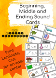 Beginning, Middle and Ending Letter Sound Cards