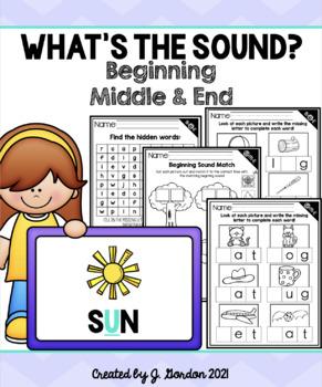 Beginning, Middle, and Ending Sound Bundle