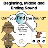 Beginning, Middle and Ending Sound Clip or Cover Cards