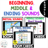 Beginning, Middle, and Ending Sounds BOOM CARDS BUNDLE