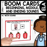 Beginning, Middle, and Ending Sounds Boom Cards Distance Learning