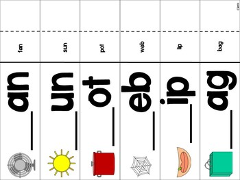 Beginning, Middle and Ending Sounds {CVC} Stations and Worksheets