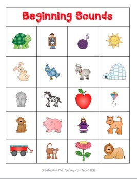 Beginning, Middle, and Ending Sounds Mats