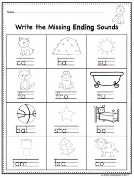 Beginning, Middle and Ending Sounds Review Sheets