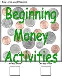 Beginning Money Activities