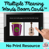 Multiple Meaning Words BOOM Cards™ NO PRINT Speech Therapy
