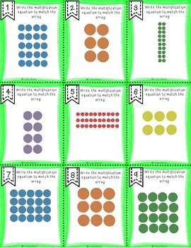 Beginning Multiplication Array Task Cards
