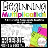 Beginning Multiplication | Distance Learning Google Classroom FREEBIE
