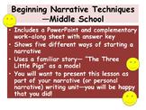 Beginning Narrative Techniques—Middle School