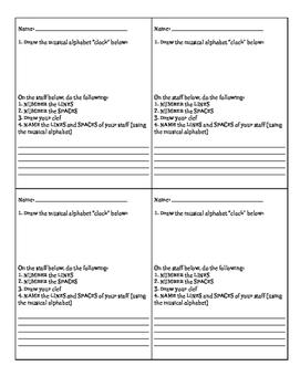 Beginning Note Reading Mini Assessment