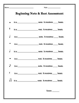 Beginning Note & Rest Assessment