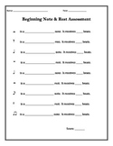 Beginning Note & Rest Assessment