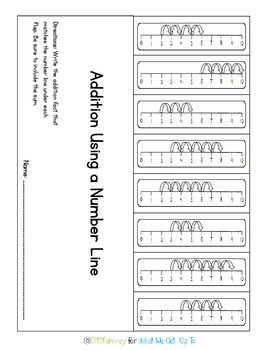 Beginning Number Line Addition Pack