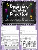 Beginning Number Practice 1-10