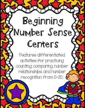 Beginning Number Sense Centers (Super Hero Theme)