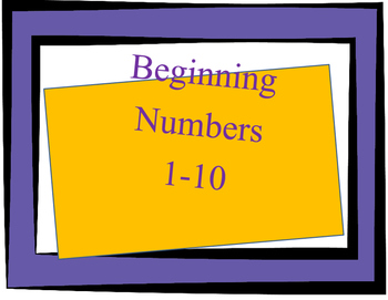 Beginning Numbers 1 to 10