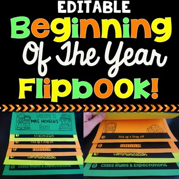 Back To School / Beginning Of The Year Flipbook