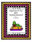 Beginning Of Year Reading Assessment