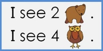 Beginning Operations - Addition - File Folder Game - Winter Bear/Owl Theme