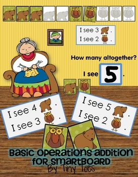Beginning Operations - Addition - Smartboard Game - Winter Bear/Owl Theme