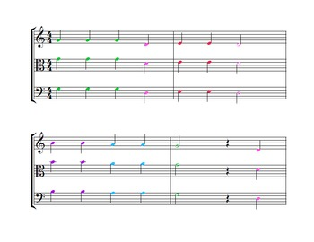 Beginning Orchestra Game - Old MacDonald Mix Up - FULL COLOR