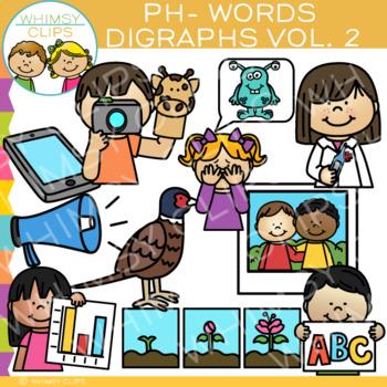 Digraphs Clip Art: PH Words Clip Art {Volume TWO}