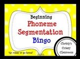 Beginning Phoneme Segmentation Bingo